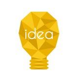 动画片灯电灯泡设计平的传染媒介例证电想法明亮的图解概念 免版税库存照片