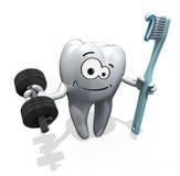 动画片牙重量训练 库存照片