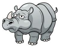 动画片犀牛 库存照片