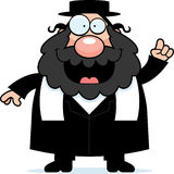 动画片犹太教教士想法 图库摄影