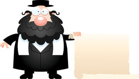 动画片犹太教教士标志 免版税库存照片