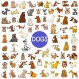 动画片狗字符巨大的集合 库存例证