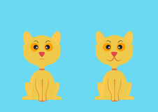 动画片猫例证向量黄色 图库摄影