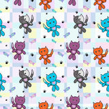 动画片猫样式滑稽的颜色 库存图片