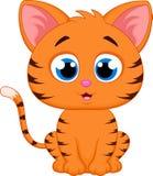 动画片猫逗人喜爱的例证向量 免版税库存照片