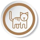 动画片猫minimalistic设计的图标 库存图片