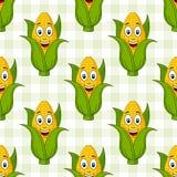 动画片玉米棒子无缝的样式 库存图片