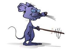 瞎的灰色老鼠 免版税库存图片
