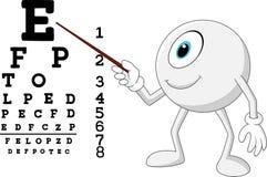 动画片眼睛指向斯内伦海图的球眼镜师 向量例证