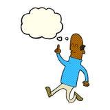 动画片秃头人有与想法泡影的想法.图片