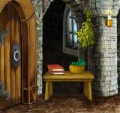动画片空的室-童话场面 库存例证