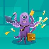 动画片章鱼穆斯特作为上司 库存照片