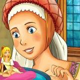 动画片童话场面-孩子的例证 库存图片