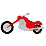 动画片简单的摩托车 库存例证