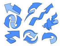 动画片箭头被设置的组装 库存图片