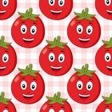 动画片红色蕃茄无缝的样式 免版税库存图片
