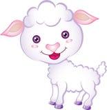 动画片羊羔 免版税库存照片