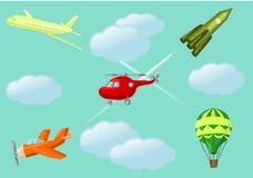动画片航空器 库存图片