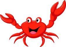 动画片螃蟹滑稽的例证向量 库存图片