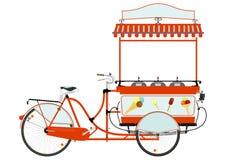 动画片街道食物推车 向量例证