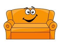 动画片被布置的长沙发 库存例证