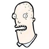 动画片被注重的秃头人 免版税图库摄影