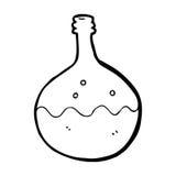 动画片起泡的化学制品 库存例证