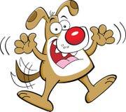 动画片跳跃的狗 免版税库存照片