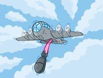 动画片轰炸机 皇族释放例证