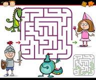 动画片迷宫或迷宫比赛 库存照片
