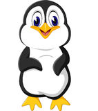 动画片逗人喜爱的企鹅 图库摄影