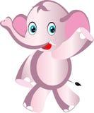 动画片逗人喜爱的大象 免版税图库摄影