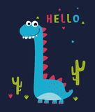 动画片逗人喜爱的恐龙 图库摄影