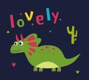 动画片逗人喜爱的恐龙 免版税图库摄影