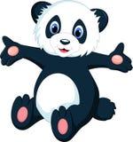 动画片逗人喜爱的熊猫 免版税图库摄影