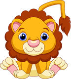 动画片逗人喜爱的狮子 免版税库存图片