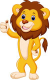 动画片逗人喜爱的狮子 图库摄影