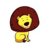 动画片逗人喜爱的狮子 免版税库存照片