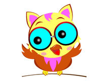 动画片逗人喜爱的猫头鹰 免版税图库摄影