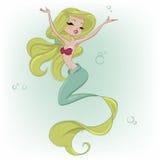 动画片逗人喜爱的美人鱼 库存图片
