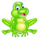 动画片逗人喜爱的青蛙 免版税图库摄影