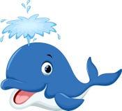 动画片逗人喜爱的鲸鱼 库存照片