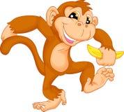 动画片逗人喜爱的猴子 向量例证