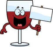 动画片酒标志 向量例证