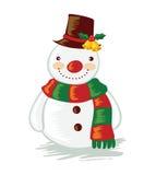 动画片雪人。 免版税库存照片