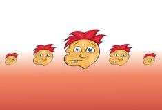 动画片面孔样式 免版税库存照片