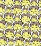 动画片面孔样式 免版税图库摄影