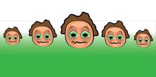 动画片面孔样式 免版税库存图片
