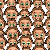 动画片面孔样式 库存图片