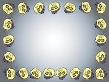 动画片面孔框架 库存图片